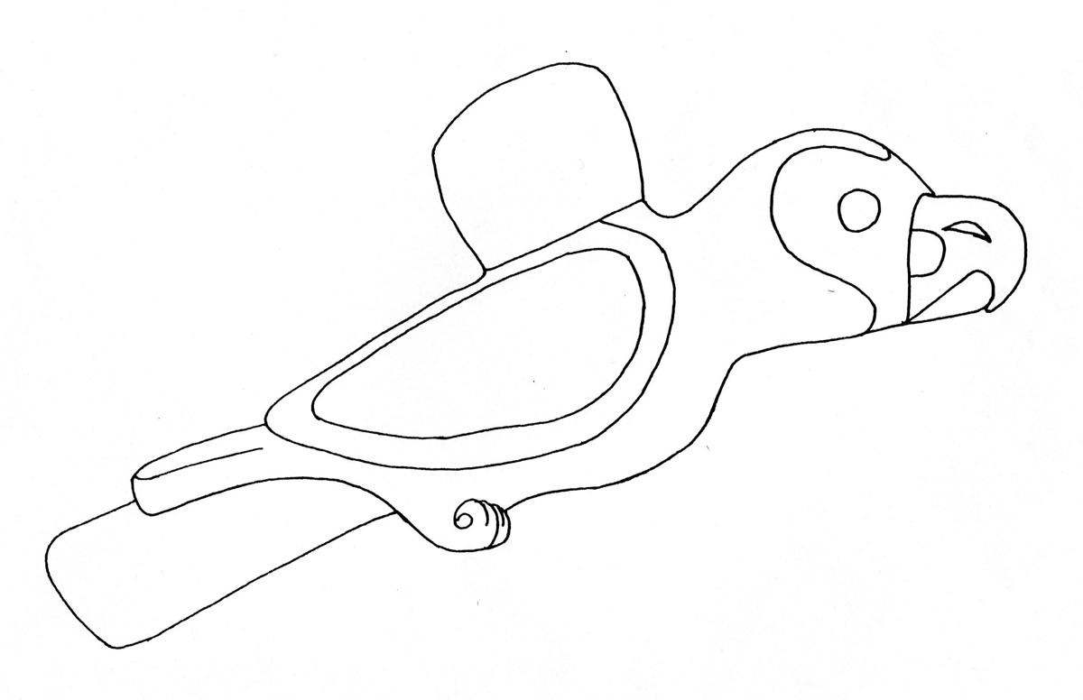 Bird – Falcon – steatite