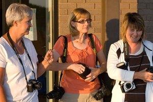 Photo class Monday night. The woman in the middle is Kathy Ingram, a good friend of mine who is the yearbook advisor at Tupelo, Oklahoma, High School.