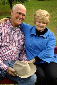 Abby's uncle Dutch Shoffer and his wife Beverly at the Shoffner family reunion in October, shot with the S200EXR