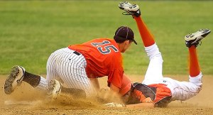 Baseball action, an example of a very short shutter speed, about 1/1000th of a second