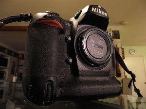 One of my Nikon D2H digital cameras