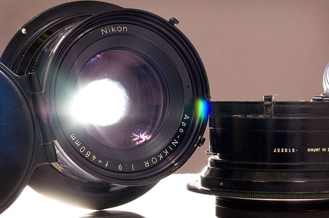The APO-Nikkor 480mm and 305mm lenses that were on our process camera are soon to be part of our small newspaper museum.