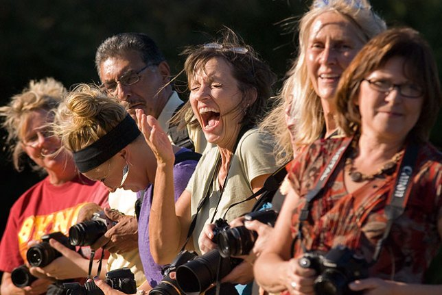 Although they were aware they were being photographed, this group of photographers at the vo-tech two weeks ago were relaxed and having fun taking pictures, and were thus ripe for this candid moment.