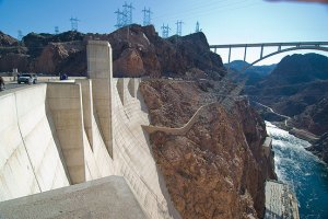This is the left-side image of the Hoover Dam panorama.