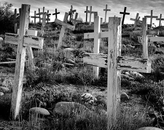 Of all my images of the American southwest, this one of a mission graveyard south of Farmington, New Mexico in November 2003 might be the most evocative and provocative. It brings a human element into landscape elements, and always reminds me why I love to make pictures.