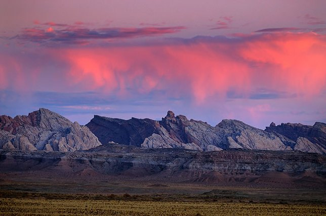 """Clouds over the San Rafael Reef, Utah, prior to sunrise, October 2008; like a lot of my images, this one was an """"I have to stop and shoot this"""" picture on my way from one place to another. Though it is unusual and strikingly beautiful, it didn't make the top five."""