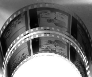 Curved film? A flat film plane is a decidedly 19th-century necessity. In the 21st century, there must be something better.