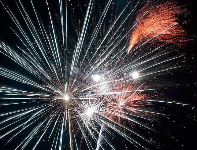 Fireworks are fun to shoot, and easy for both the photographer and the lens.