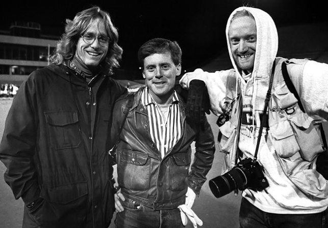 Scott, Robert and I gathered at Oklahoma State's Lewis Field one very cold night in December 1991 to cover the Ada Cougar's in a state championship game.