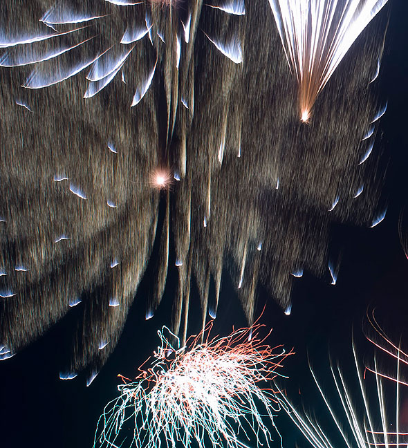 "Fireworks are extremely satisfying to photograph because there is no ""correct"" image, and they have the potential to dazzle the eye."