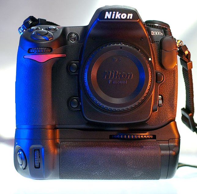 This is the Nikon D300s with its MB-D10 battery grip attached.