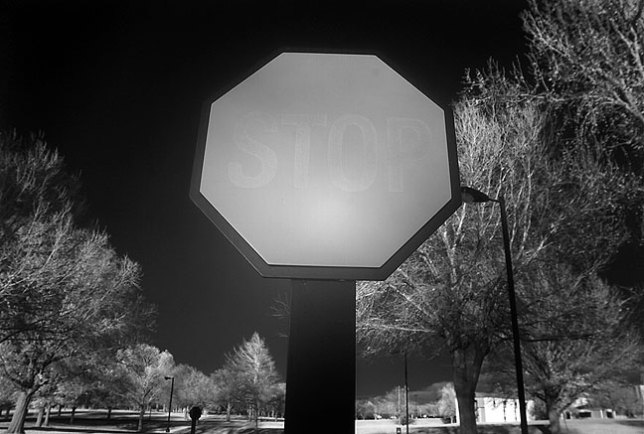 I made this far-infrared image at Oral Roberts University in Tulsa a few years ago, and was intrigued by the result, but not as happy with the camera, the heavy, cumbersome Kodak DCS720x.