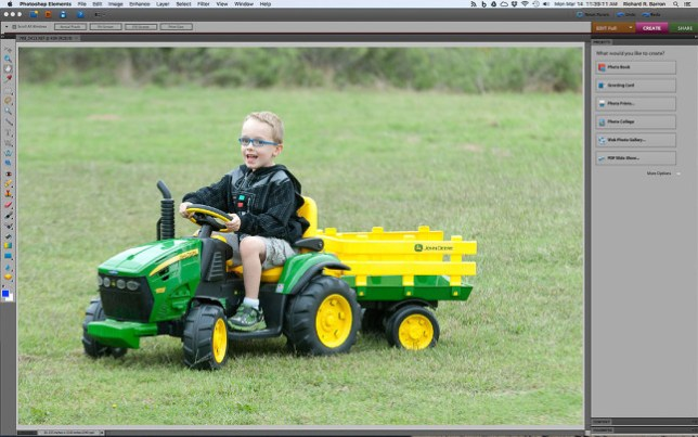 As you can see, the editing interface using Photoshop Elements is fairly comprehensive for day-to-day photography. This is version 10, but Elements is now for sale as version 14.