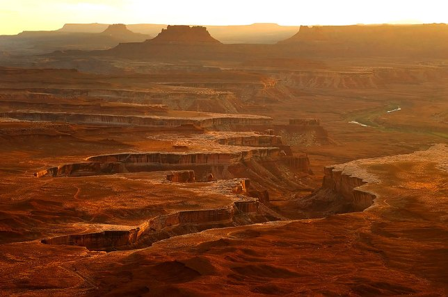 I made this image at sunset at the Green River Overlook at Canyonlands National Park, Utah, in October 2008.