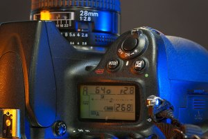 Not only does the Nikon D700 have a bigger sensor, it has a bigger, and much heavier body.