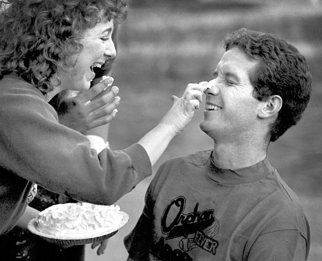 I made this image of a pie-in-the-face event for the Sooner Yearbook in 1984. This was the day I met Scott Andersen, who was shooting it for the Oklahoma Daily student newspaper. It was shot on Kodak Plus-X Film with my 105mm f/2.5 Nikkor.