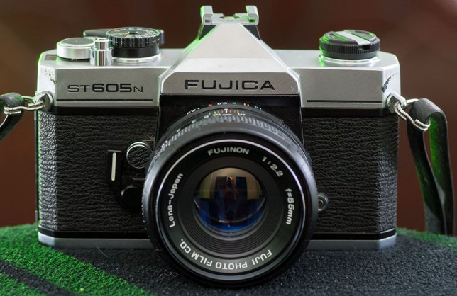 The Fujica ST605N camera sits in my home studio today. This camera was my first single lens reflex camera, purchased originally in July 1978.