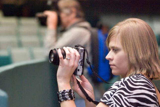 A young photography student named Jennifer takes pictures in my class at the Pontotoc Technology Center a few years ago. I hope I gave her what she needed.