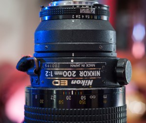 The controls on the Nikkor 200mm f/2.0 are big and easy to use. Focus is super-smooth, and the aperture is firm and easy to adjust.