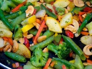 My vegetable stir-fry tonight