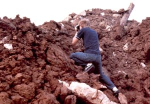 """Image of me making pictures when I was 15, at the landfill where we hiked, which we called """"Section A"""""""