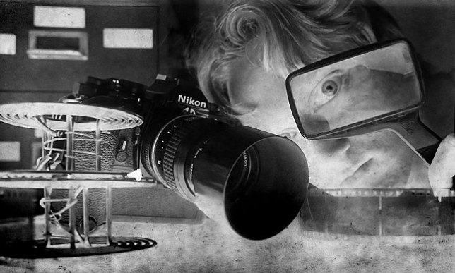 Me with my long-gone Nikon FM, and the also long-gone 105mm, circa 1982. Over the years I owned three 105s.