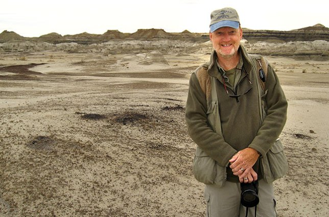 Your host on the trail at New Mexico's Bisti Wilderness, 2009