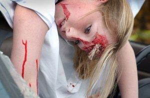 Simulated accident victim, Project Ignition, 2007