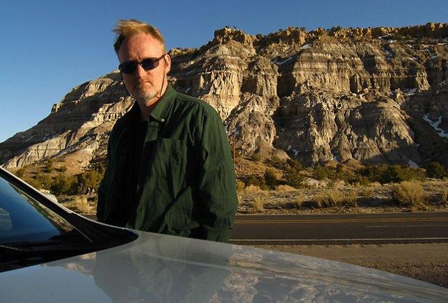 Brooding pose at some badlands near Huerfano Mesa along U. S. 550 in New Mexico