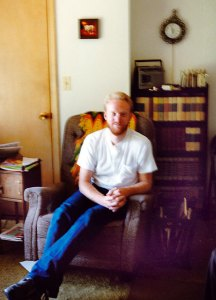 The author in the Barron's den in 1987. Note the smoking stand on the left side of the frame.