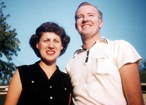 Margaret and Bill Skinner circa 1958, looking about as all-American as a couple could. (Photo by Richard M. Batten)