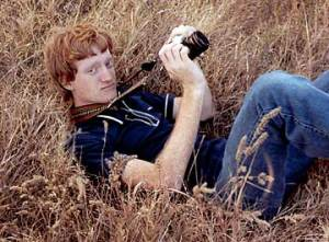 This is how I appeared in the fall of 1978, holding the Fujica SLR I used to photograph our pool being installed.
