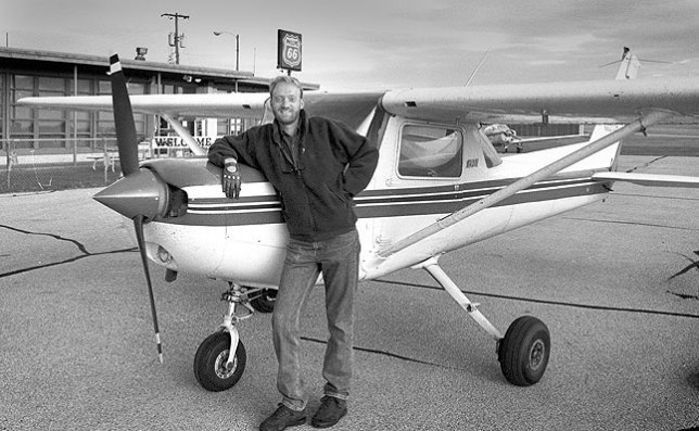 This is a Cessna 152 I rented sometimes from an FBO in Shawnee, Oklahoma. This image was made after I landed following a fantastic tour of the Dallas-Fort Worth airport and Fort Worth Air Traffic Control Center in the fall of 1994.