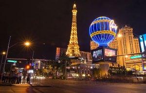 Eiffel Tower Replica at Paris Las Vegas, October 2011.
