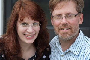 I was able to photograph Katy and Robert together during their short visit yesterday.
