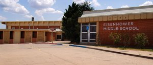 """Aside from a name change to """"Middle School,"""" Eisenhower Junior High in Lawton, Oklahoma, hasn't changed so much as a brick in 35 years."""