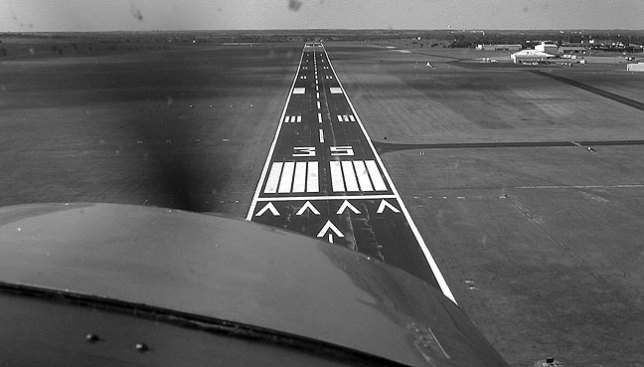 Although this image was made some years later by Abby, the view is similar to the one I had landing a spritely Cessna 150 named Old Gomer on that cold morning in December of 1992.