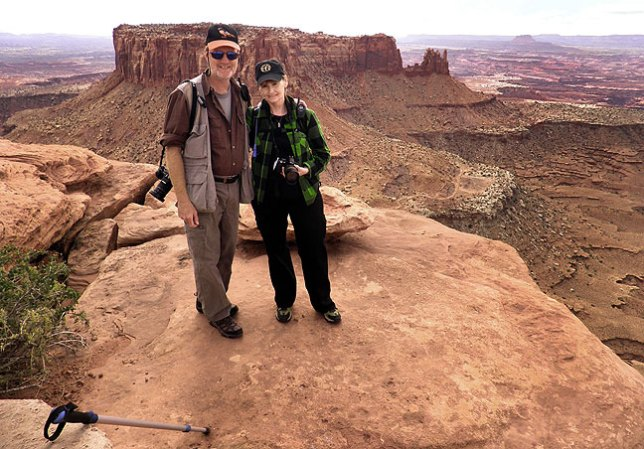 Richard and Abby hike at Canyonlands National Park, Utah, October 2010.