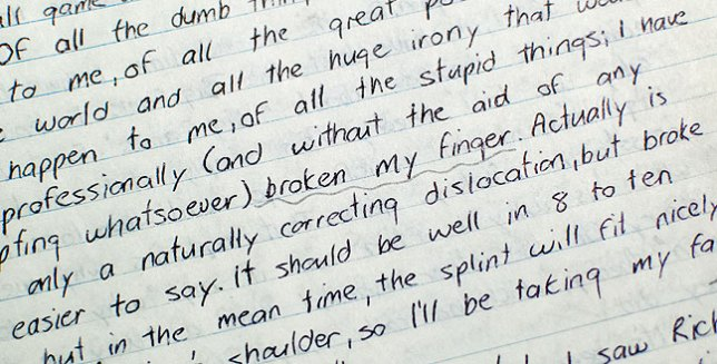 Every time I drag out the journal to find a story, I come across a dozen more. But don't worry; if you were a douche from my formative years, I will cheerfully redact your name.