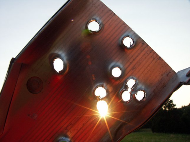 Your argument is as full of holes as this piece of metal, which is full of, well, a lot of holes.