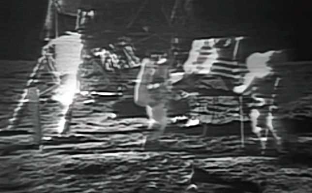 Buzz Aldrin and Neil Armstrong plant a U. S. Flag on the surface of the moon 45 years ago. It occurred to me as I watched NASA's remastered version of it on YouTube that you probably would't have been considered for the Apollo program if your name was something like Dmitri Yurikov or Zhang Chi. Armstrong. What a name.