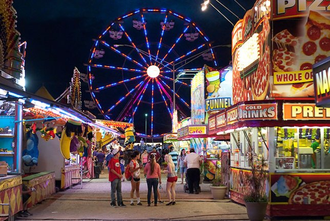 This is the midway at the Pontotoc County Free Fair, always a harbinger of autumn.