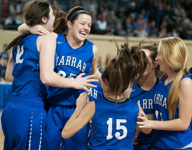 After defeating Ada, the Harrah girls went on to beat Fort Gibson to claim the Class 4A state championship trophy.