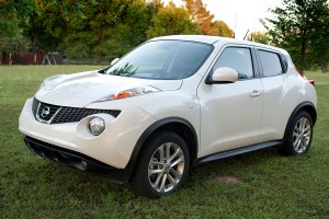 My Nissan Juke sits in the grass near the redbud tree recently. I've had it almost four years now, and it remains my all-time favorite car.