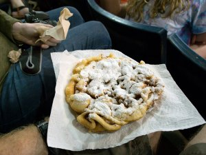 Few things in the world are as empty of nutrients as funnel cake, but it was fun to eat.