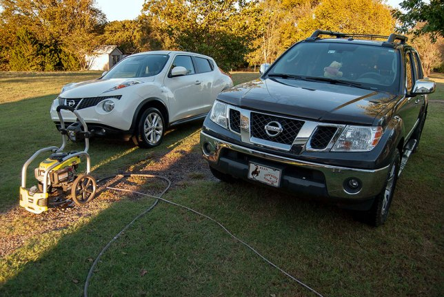 I washed our vehicles Tuesday. Readers know that I love to do this, and it makes our rides look and feel like new.