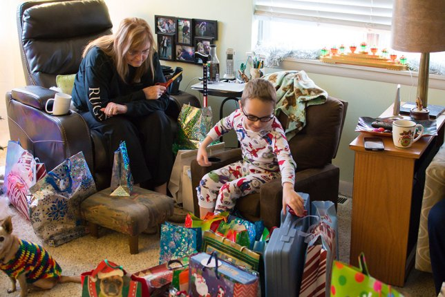"""Since the kids flew in on December 25, the 26th was """"Christmas morning."""""""