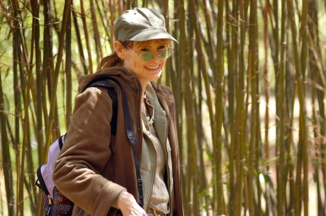 Abby smiles as we make pictures in the bamboo forest at the Oklahoma City Zoo. The zoo is one of her favorite places.
