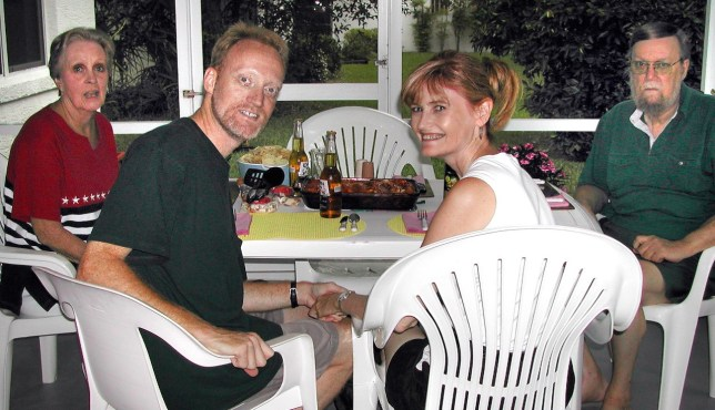 Abby and I made enchiladas and guacamole for Mom and Dad when she and I flew to Florida in June 2003.