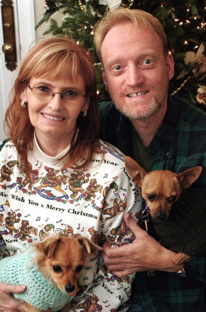 Abby and I pose for a Christmas portrait at my sister Nicole's house in the Lower Ninth Ward of New Orleans in 2006, after my sister rebuilt following Hurricane Katrina.